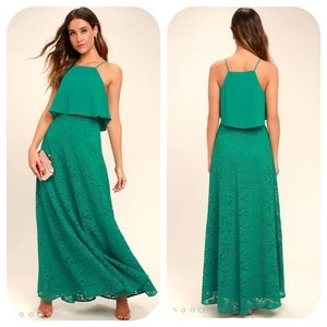 Lulus Two Piece Lace Maxi Dress